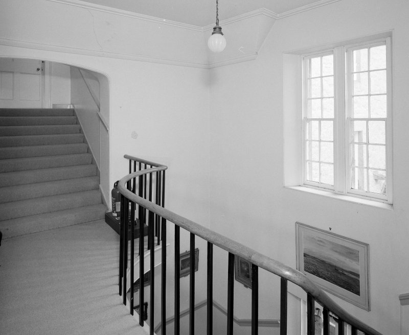 Interior. Second floor. Stair hall