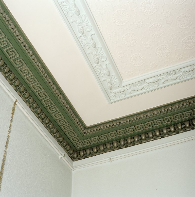 Interior. First floor. Drawing room. Detail of cornice
