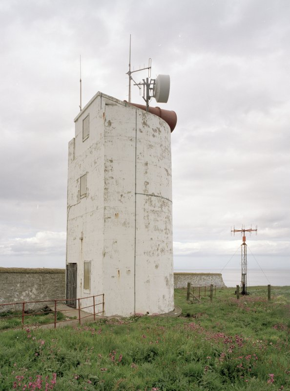 View of foghorn tower from ESE