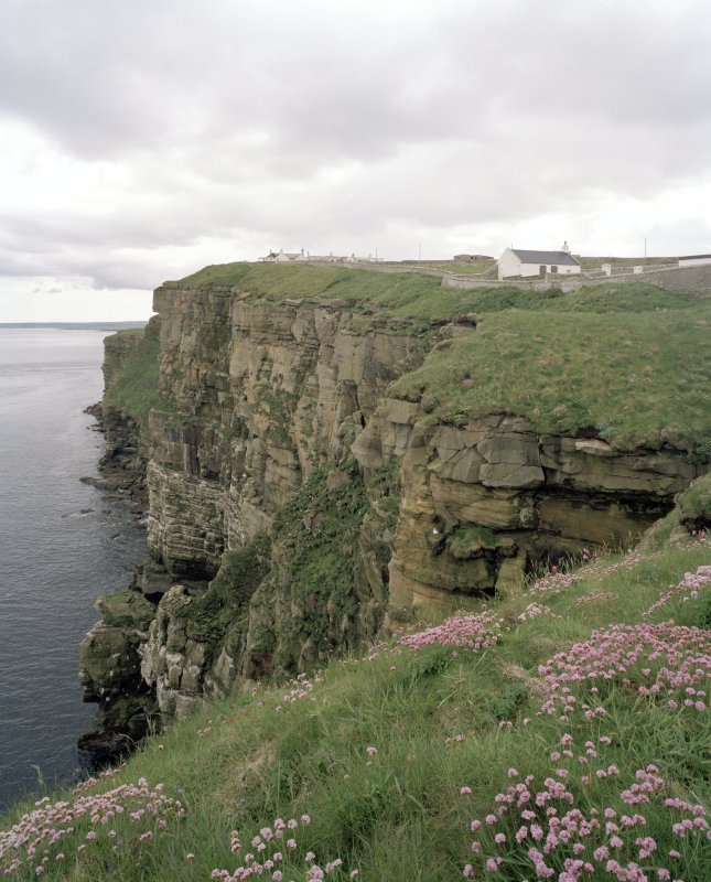 View of cliffs from NW