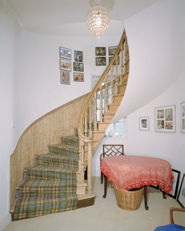 Interior. SE wing. Detail of spiral stair