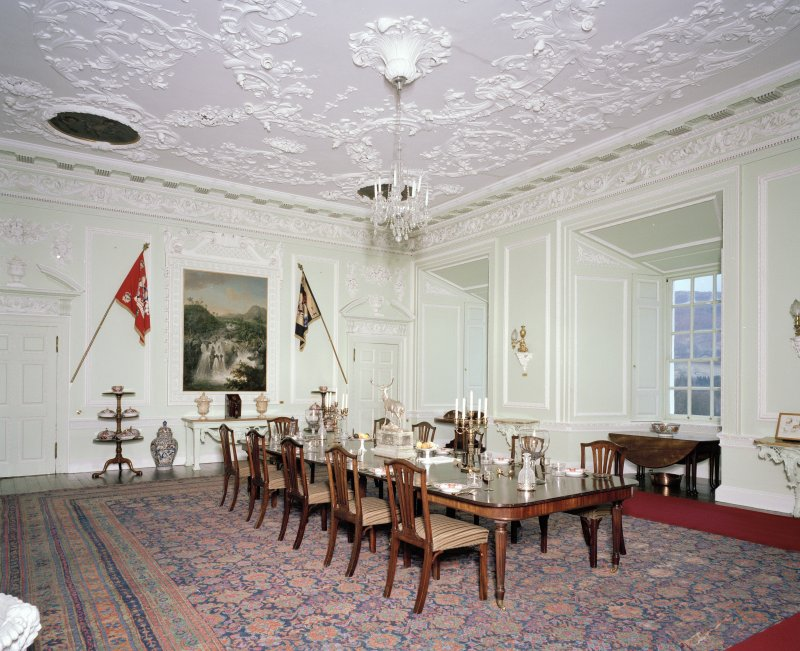 Interior. 1st floor. Dining room. View from N