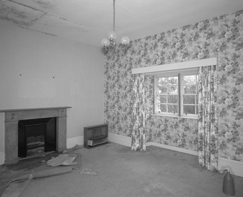 Interior. Top floor Prospect room showing marble fireplace