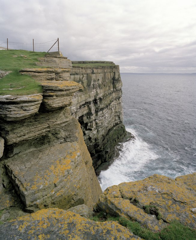 View of cliffs from N.