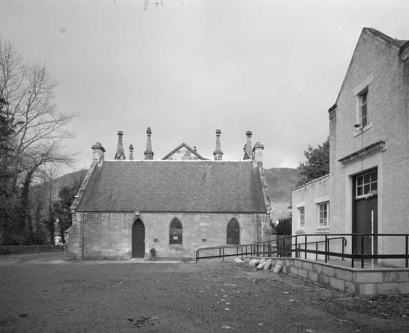 View from S showing church, vestry and halls