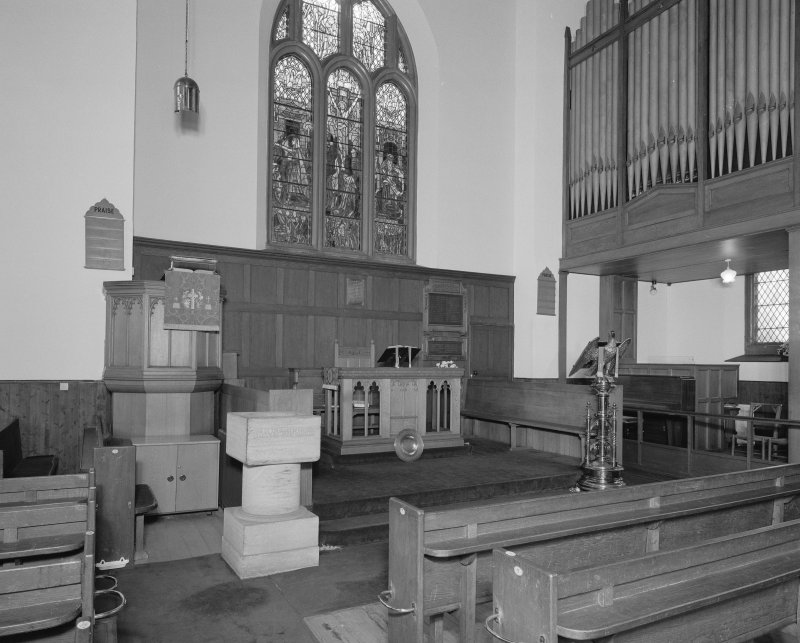 Interior. View of chancel from NE