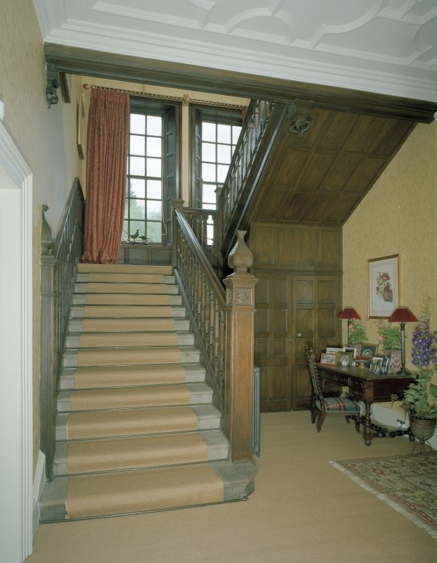 Interior. View of main stair from S