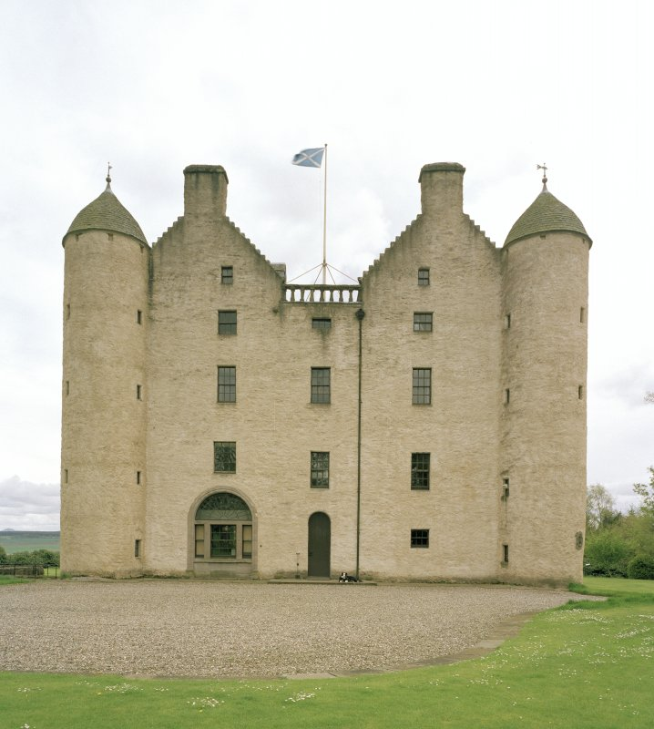 View of Castle frontage from N showing entrance
