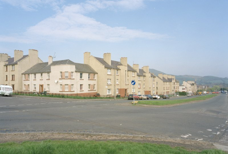 View of Craigmillar Castle Rd from SE