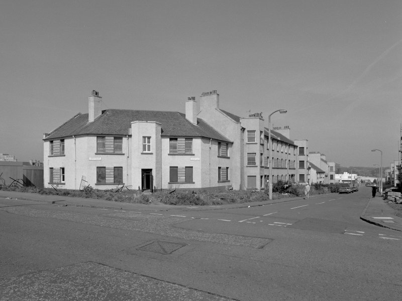 View of corner of Criagmillar Castle Avenue & Craigmillar Castle Loan from SE