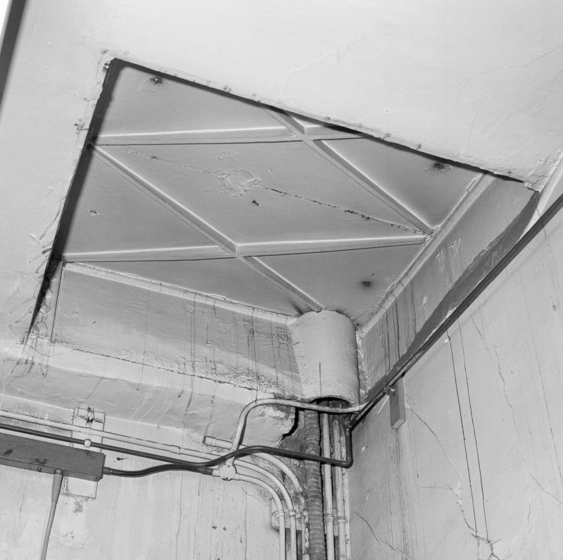 Interior.  Ground floor, detail of hatch to floor above.