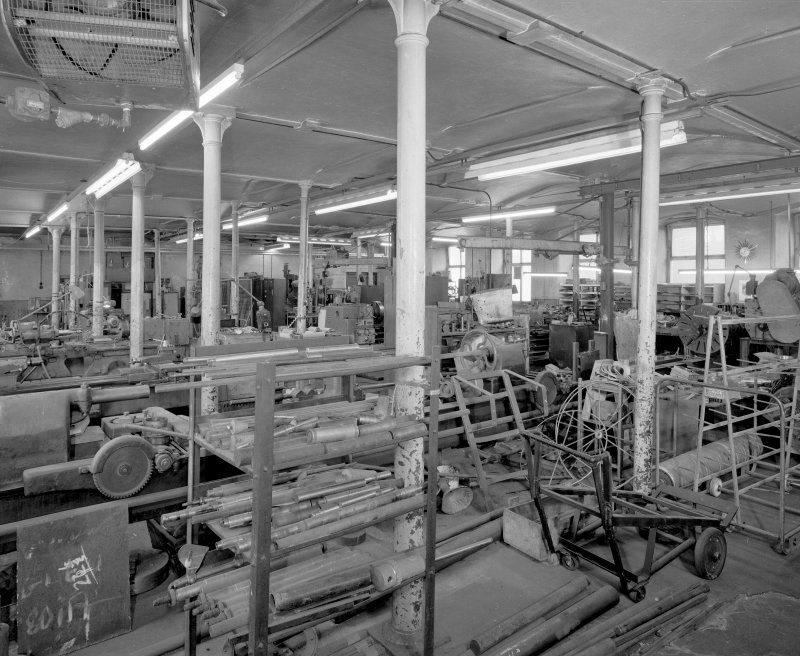 Interior. View of machine shop from S