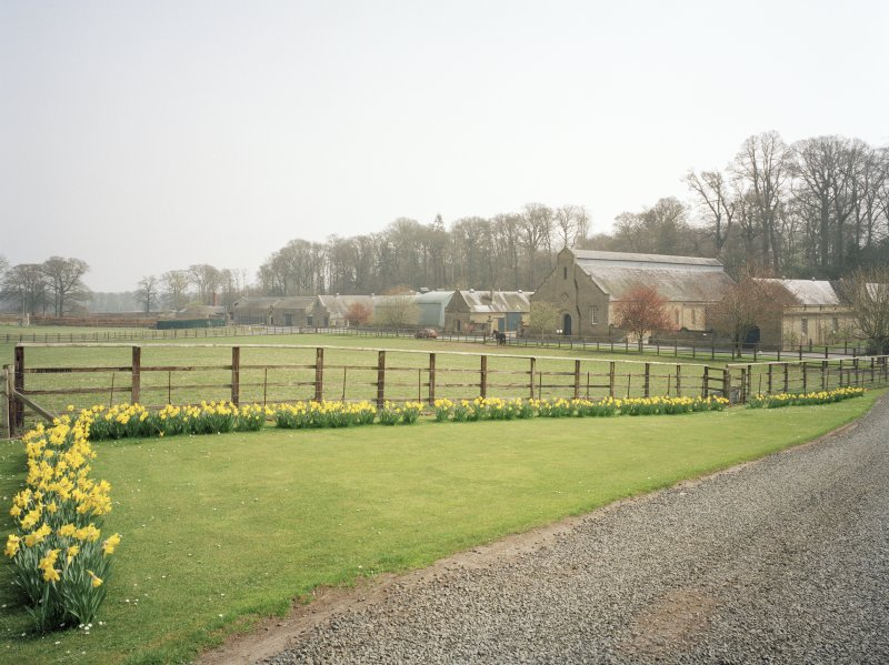 View of steading from W