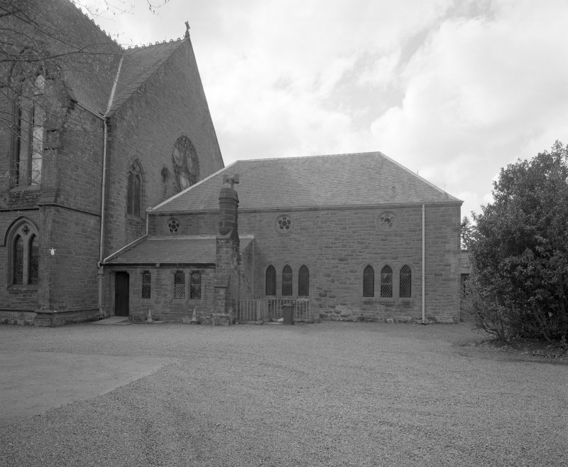 View of church hall from NE.