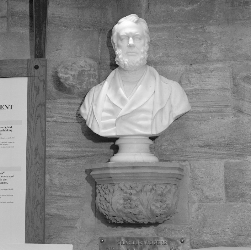 Interior. Ground floor, reception area, bust of Charles Rogers