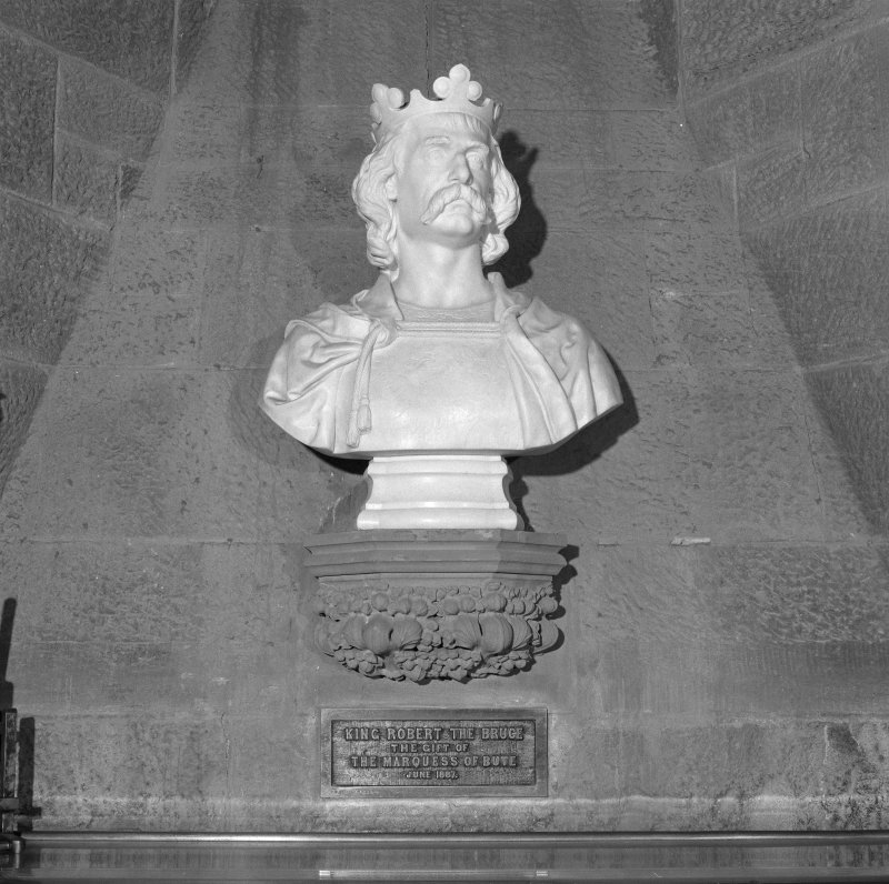 Interior. 2nd. floor, exhibition room, detail of bust of King Robert The Bruce