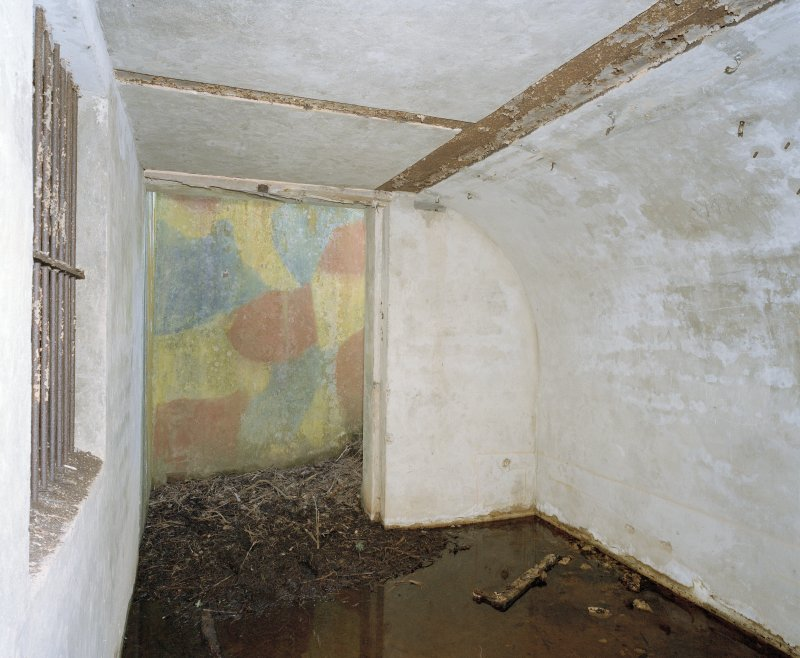 Interior. View from NE showing camouflage (?)