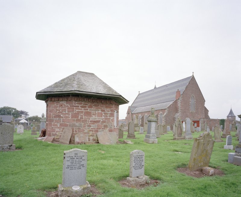 View from East showing graveyard watch house