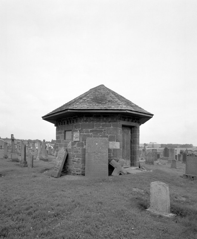 View of graveyard watch house