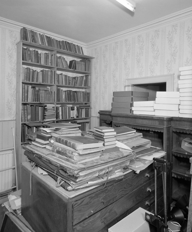 Interior, view of lower ground floor Robert Burns Collection back room