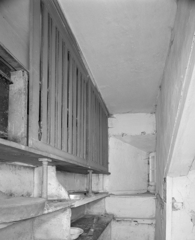 Interior, view of lower ground floor pantry with ventilated cupboards