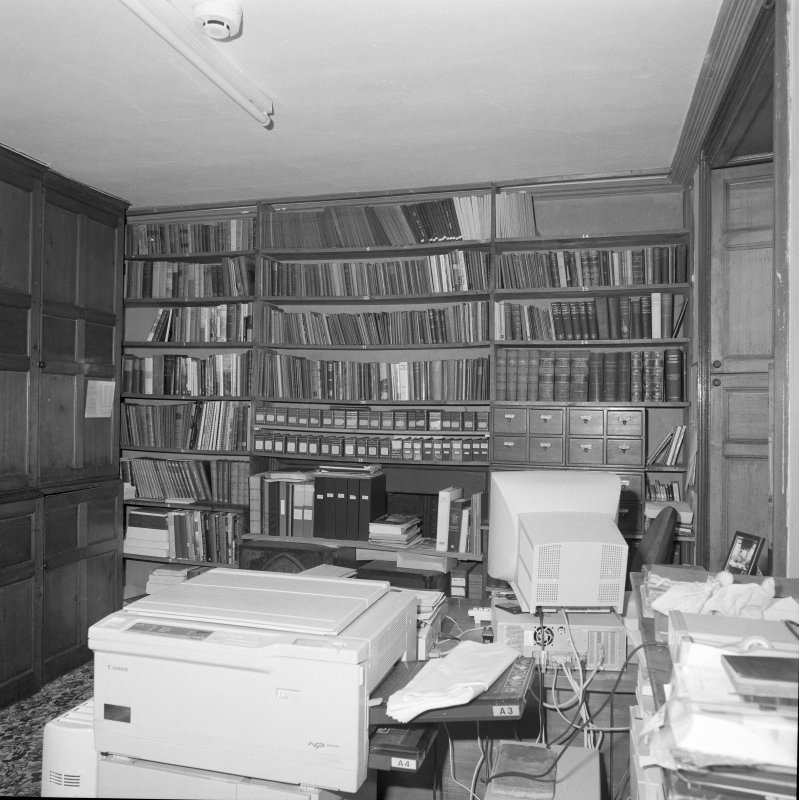 Interior, view of ground floor library/office