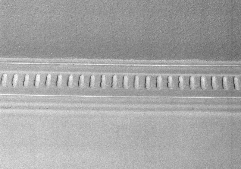 Interior, detail of ground floor dining roomcornice