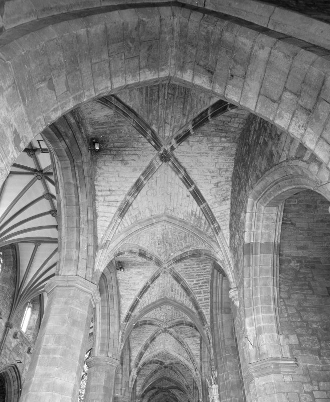 Interior, Nave North Aisle, view of vault