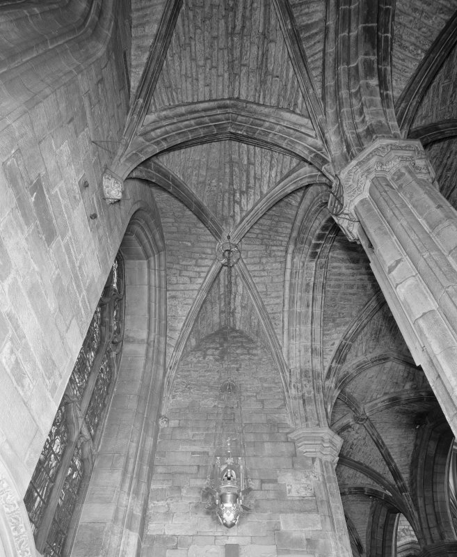 Interior, Albany Aisle, view of E vault