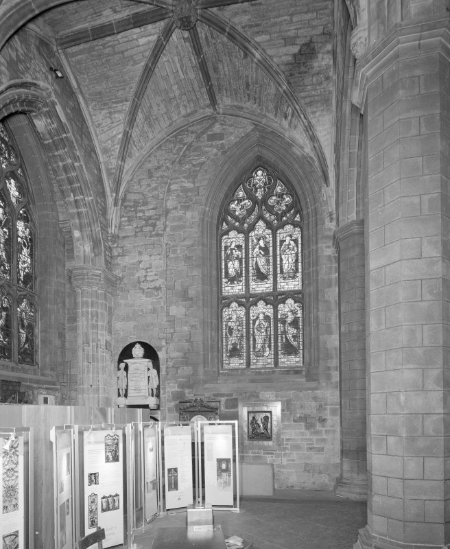 Interior, Nave South Aisle, view of West wall