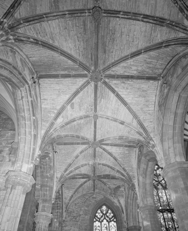 Interior, Nave South Aisle, view of vault