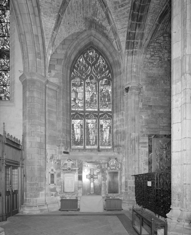 Interior, Nave North Aisle, view of West wall