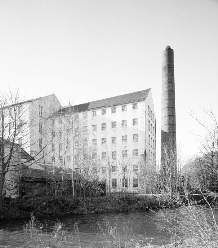 View of the 'Old End' of William Paton's Johnstone Mill, Renfreshire
