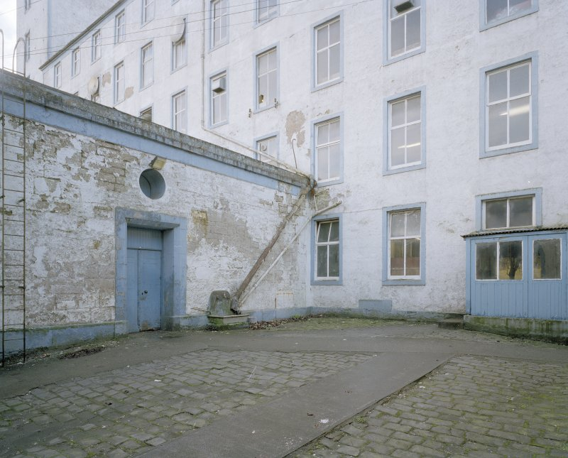View of courtyard from NE