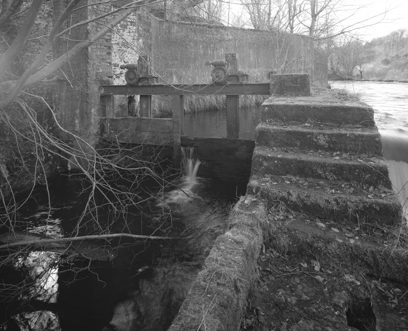 View of sluice gate from NE.