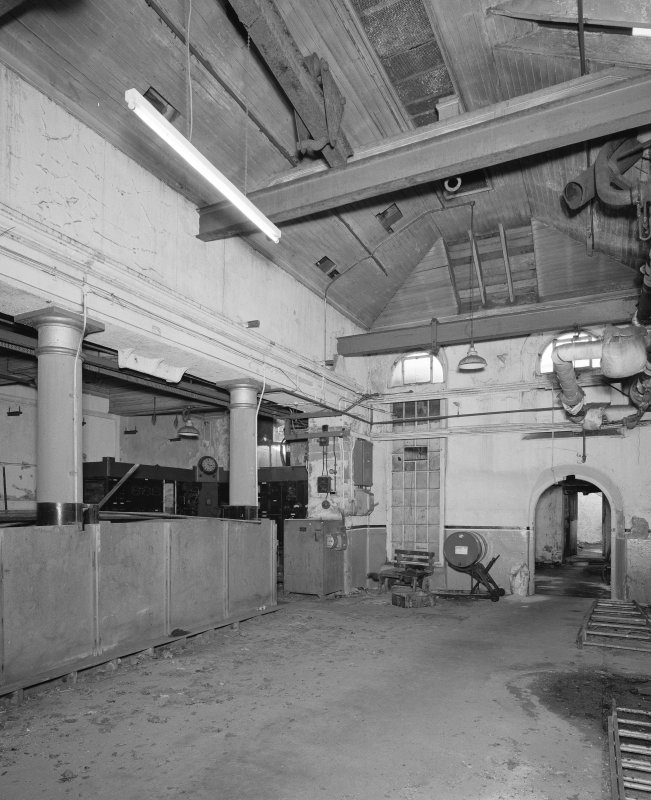 Interior, engine house from NE.