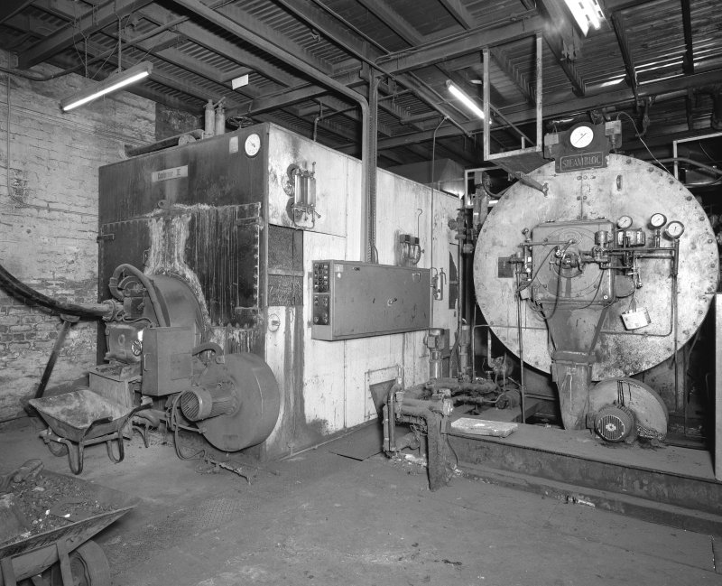 Interior, view of boiler house
