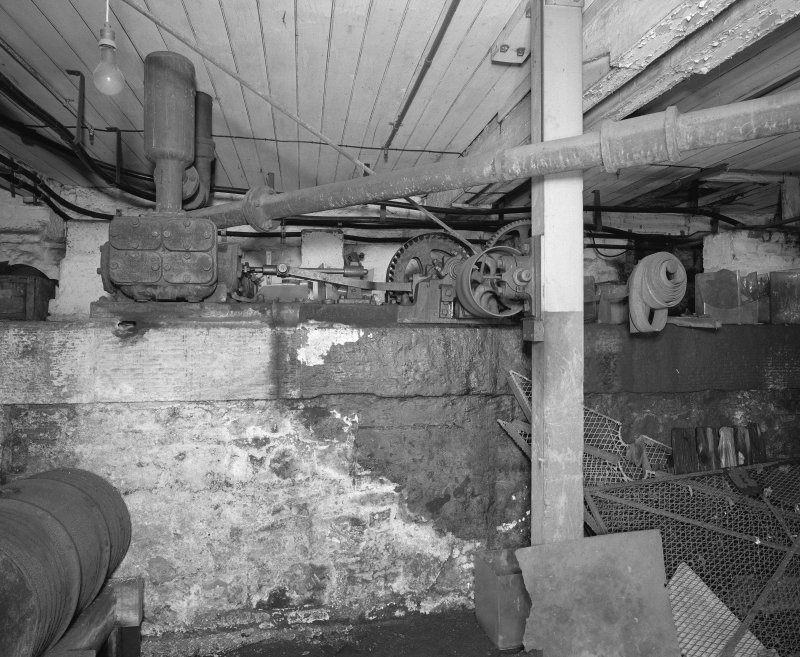 Interior, basement showing 'Tangye' engine.
