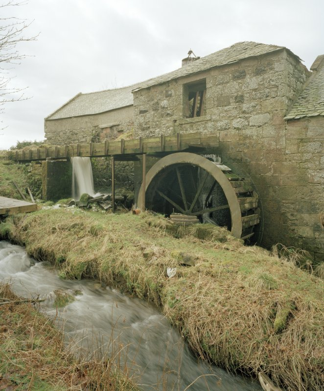Detailed view from W of water wheel