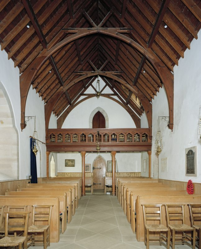 Interior. View of rear of nave showing gallery