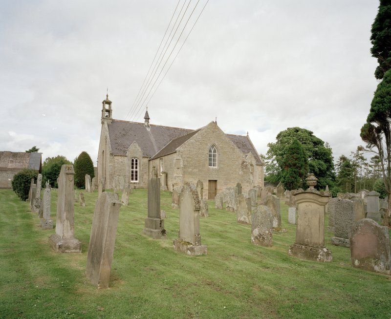 View of Church and Blackadder Aisle from S from churchyard