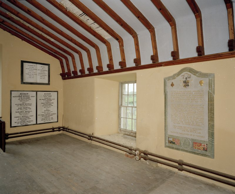 Blackadder Aisle. Interior. Upper floor. View from NE