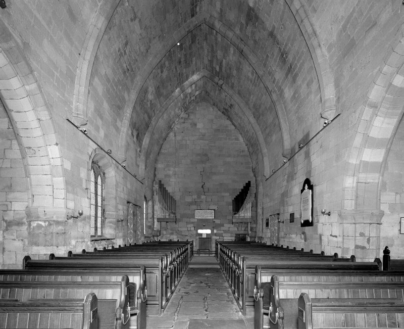 Interior. View of nave from apse