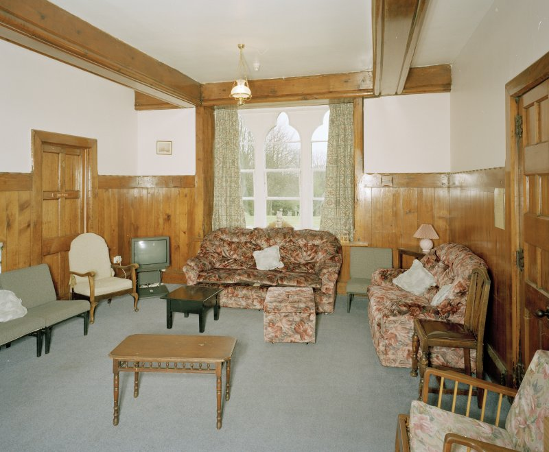 Interior. Grround floor Common room View from E showing high dado