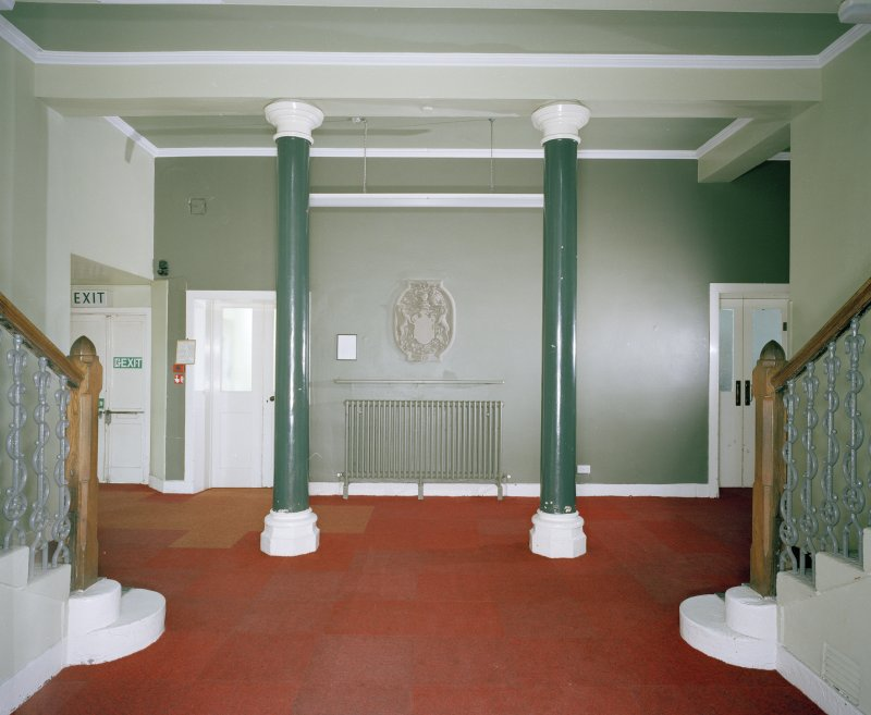 Interior. Entrance hall from W