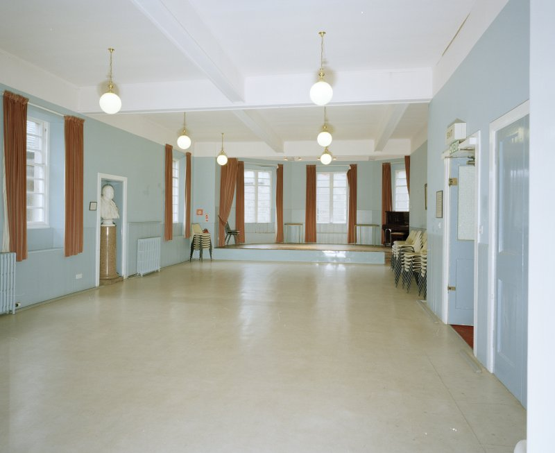Interior. Ground floor lower hall from N
