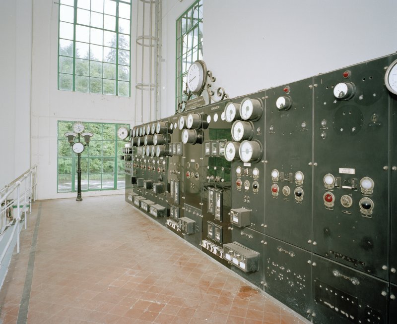 Interior. View of control panel from E.