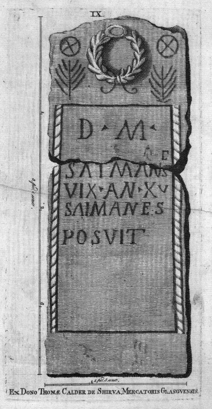 Plate IX from 'Stones from the Roman Walls' Insc. 'Ex Dono Thomae Calder de Shirva, Mercatoris Glasgvensis'