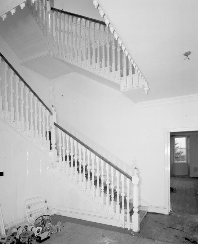 Interior. View of entrance stair hall