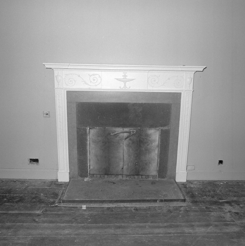 Interior. Detail of fireplace in ground floor drawing room